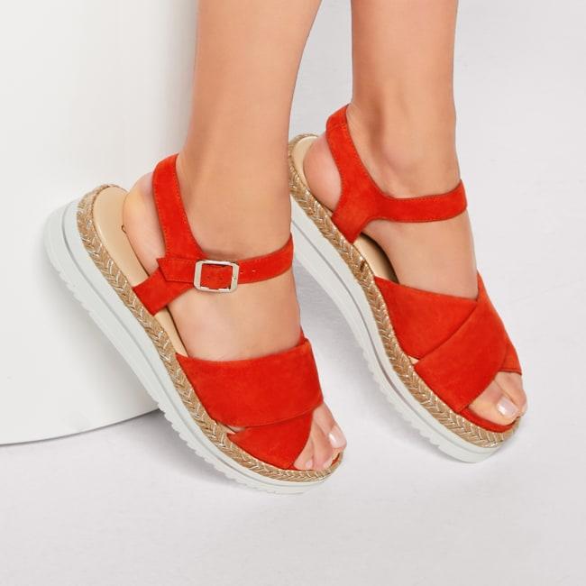 Sandale Summertime Rot – modischer und bequemer Schuh für Hallux valgus und empfindliche Füße von LaShoe.de