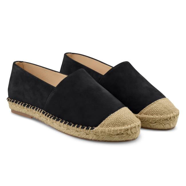 Espadrilles Schwarz – modischer und bequemer Schuh für Hallux valgus und empfindliche Füße von LaShoe.de