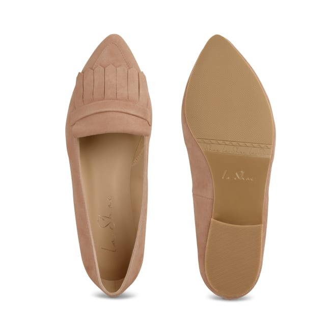 Femininer Loafer Classic Nude – modischer und bequemer Schuh für Hallux valgus und empfindliche Füße von LaShoe.de