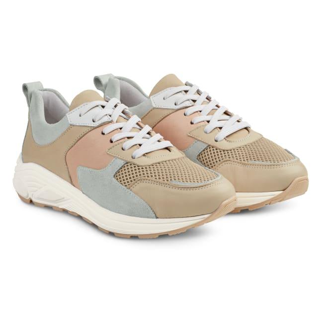 Chunky Sneaker Taupe – modischer und bequemer Schuh für Hallux valgus und empfindliche Füße von LaShoe.de