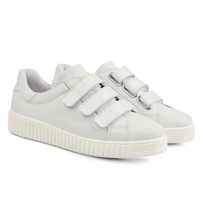 Sneaker Retro mit Klettverschluss Weiß – modischer und bequemer Schuh für Hallux valgus und empfindliche Füße von LaShoe.de