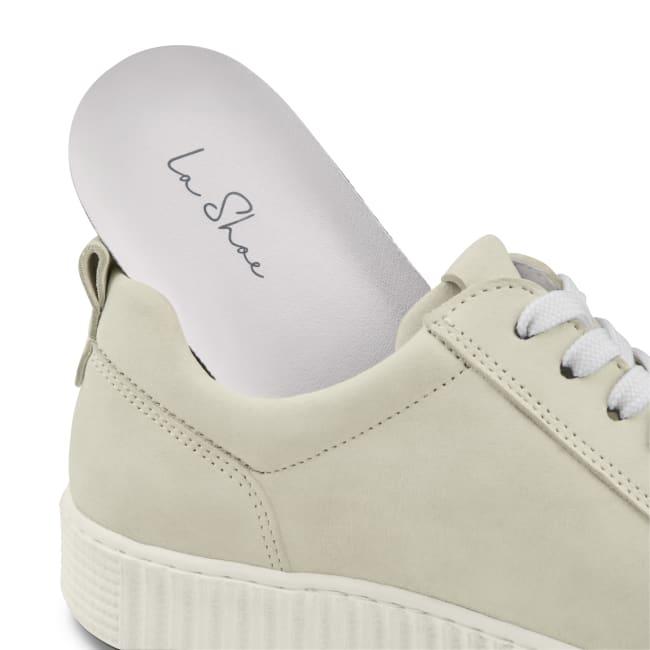 Sneaker Retro mit Zipper Hellgrau – modischer und bequemer Schuh für Hallux valgus und empfindliche Füße von LaShoe.de