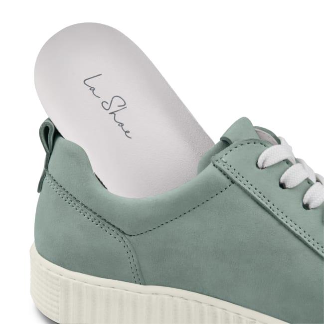 Sneaker Retro mit Zipper Hellblau – modischer und bequemer Schuh für Hallux valgus und empfindliche Füße von LaShoe.de