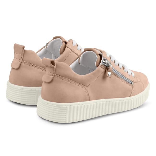 Sneaker Retro mit Zipper Hellrosé – modischer und bequemer Schuh für Hallux valgus und empfindliche Füße von LaShoe.de