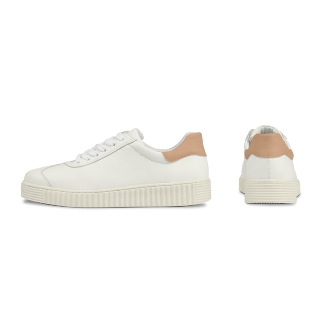Sneaker Retro mit Kontrastferse Weiß – modischer und bequemer Schuh für Hallux valgus und empfindliche Füße von LaShoe.de