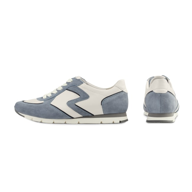 Premium Sneaker Colourline Weiß/Hellblau – modischer und bequemer Schuh für Hallux valgus und empfindliche Füße von LaShoe.de