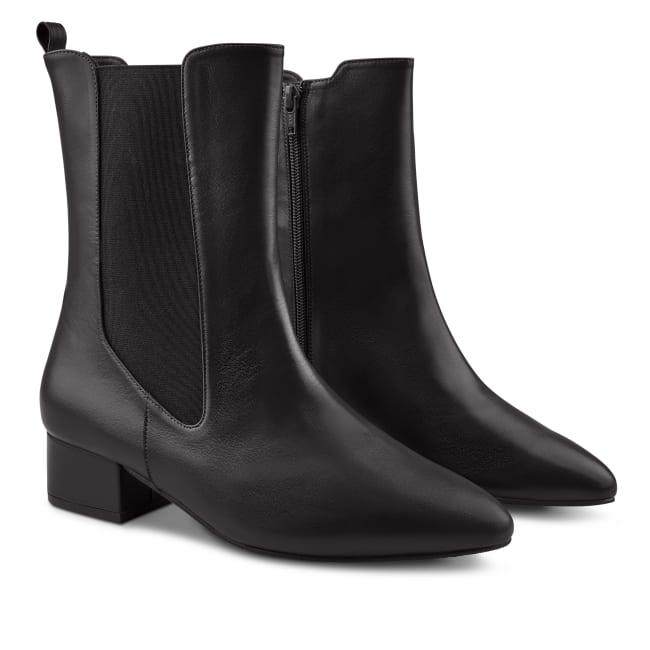 Chelsea-Stiefelette mit hohem Schaft Schwarz – modischer und bequemer Schuh für Hallux valgus und empfindliche Füße von LaShoe.de