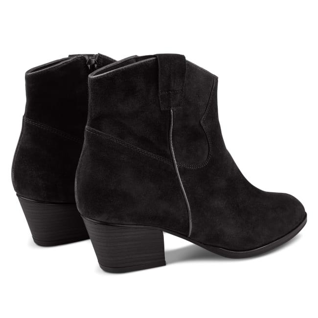 Western-Stiefelette Schwarz – modischer und bequemer Schuh für Hallux valgus und empfindliche Füße von LaShoe.de