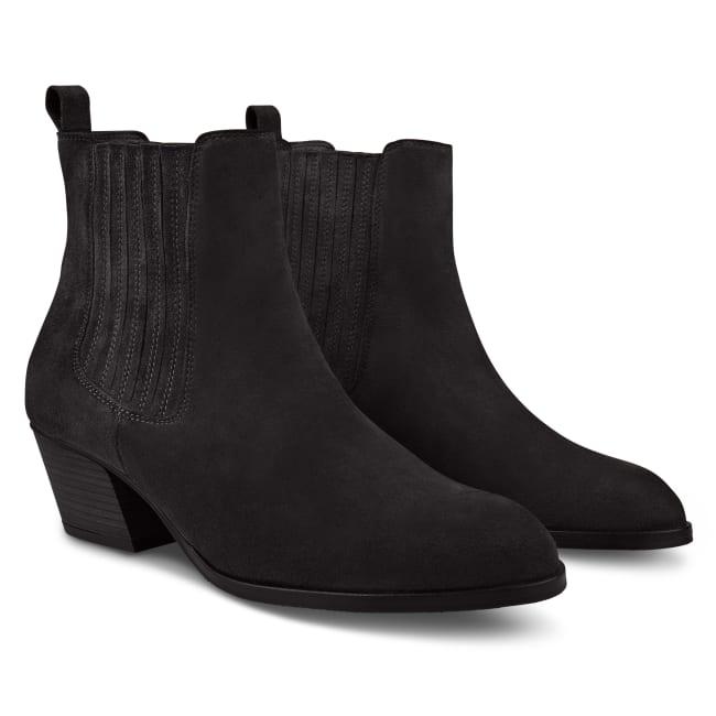 Western-Stiefelette Chelsea Style Schwarz – modischer und bequemer Schuh für Hallux valgus und empfindliche Füße von LaShoe.de