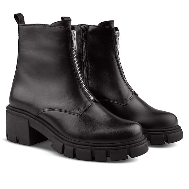 Combat Boot mit Zipper Schwarz – modischer und bequemer Schuh für Hallux valgus und empfindliche Füße von LaShoe.de