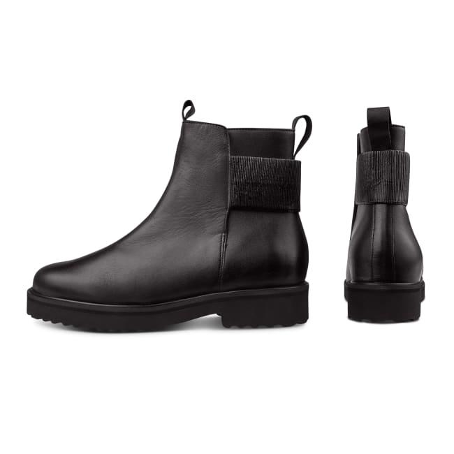 Bootie mit Dekogummi Schwarz – modischer und bequemer Schuh für Hallux valgus und empfindliche Füße von LaShoe.de