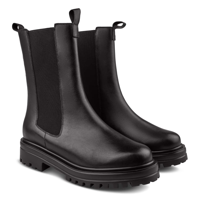 Chunky Chelseaboot Schwarz – modischer und bequemer Schuh für Hallux valgus und empfindliche Füße von LaShoe.de
