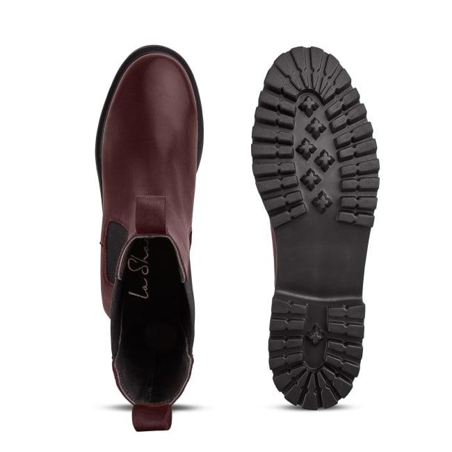 Chunky Chelseaboot Bordeaux – modischer und bequemer Schuh für Hallux valgus und empfindliche Füße von LaShoe.de