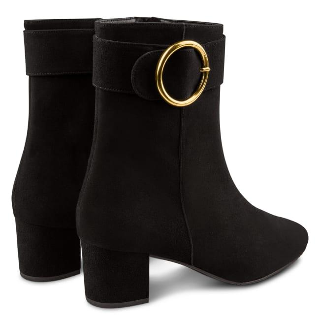 Stiefelette mit großer Schnalle Schwarz – modischer und bequemer Schuh für Hallux valgus und empfindliche Füße von LaShoe.de