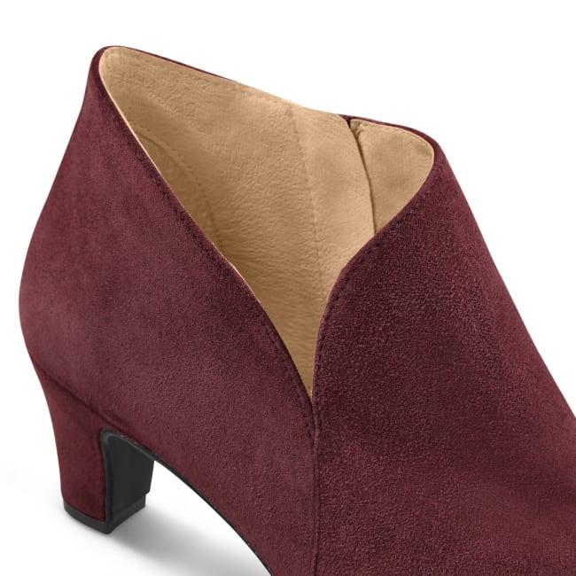 Stiefelette mit V-Cut-Out Bordeaux – modischer und bequemer Schuh für Hallux valgus und empfindliche Füße von LaShoe.de