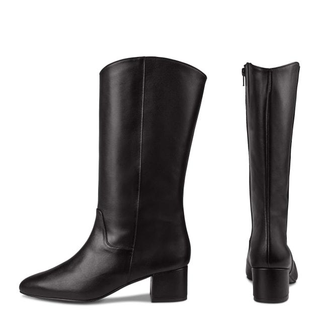 Vintage Stiefel Schwarz – modischer und bequemer Schuh für Hallux valgus und empfindliche Füße von LaShoe.de