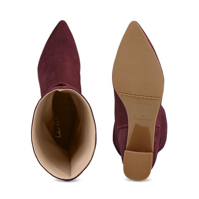 Stiefel Slouchy Bordeaux – modischer und bequemer Schuh für Hallux valgus und empfindliche Füße von LaShoe.de