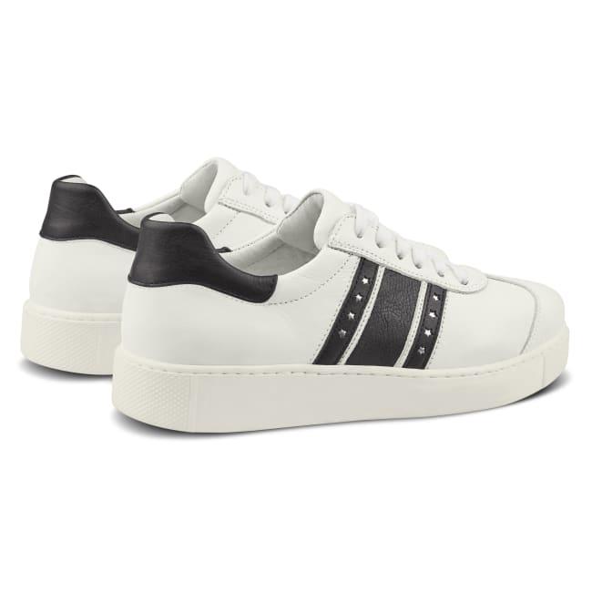 Sneaker Retro mit Flagge Weiß – modischer und bequemer Schuh für Hallux valgus und empfindliche Füße von LaShoe.de