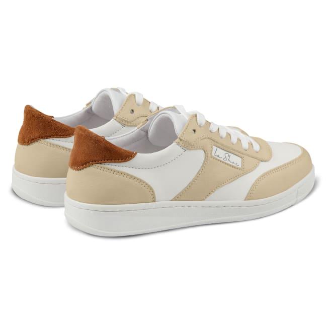 Sneaker Tennis Style Weiß – modischer und bequemer Schuh für Hallux valgus und empfindliche Füße von LaShoe.de