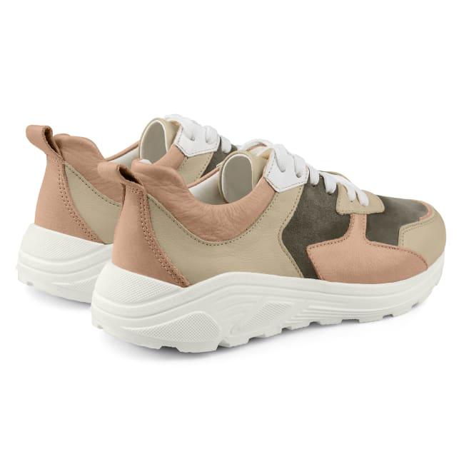 Chunky Sneaker Beige – modischer und bequemer Schuh für Hallux valgus und empfindliche Füße von LaShoe.de