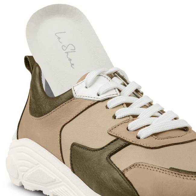 Chunky Sneaker Khaki – modischer und bequemer Schuh für Hallux valgus und empfindliche Füße von LaShoe.de