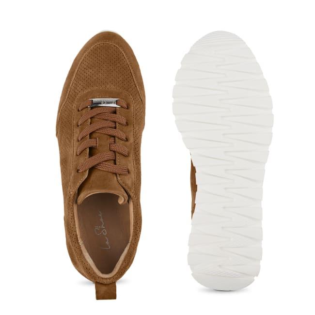 Sneaker Leder Classic Cognac – modischer und bequemer Schuh für Hallux valgus und empfindliche Füße von LaShoe.de