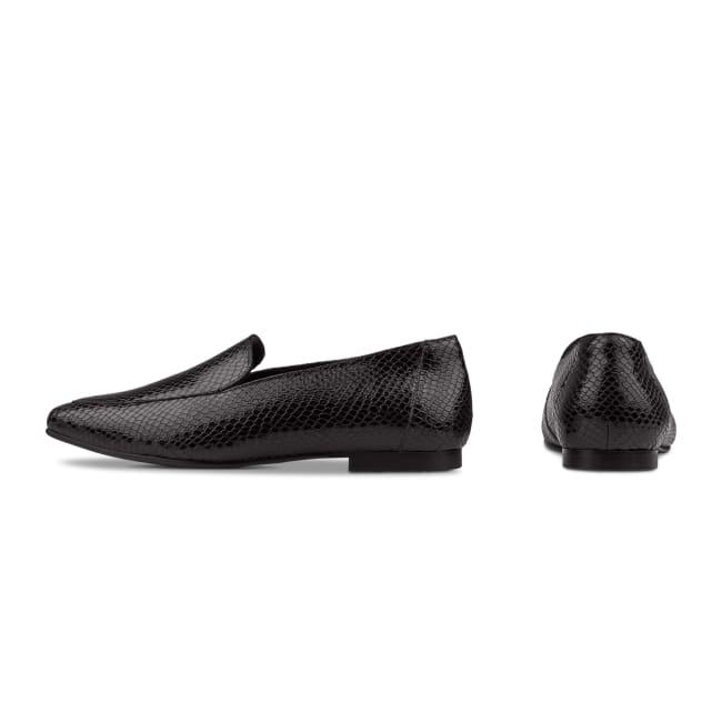 Loafer Karree Snake Schwarz – modischer und bequemer Schuh für Hallux valgus und empfindliche Füße von LaShoe.de