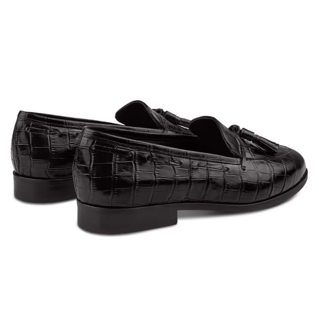 Penny Loafer mit Tassels Schwarz – modischer und bequemer Schuh für Hallux valgus und empfindliche Füße von LaShoe.de
