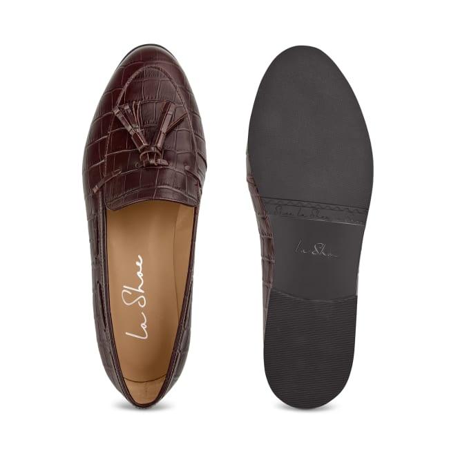 Penny Loafer mit Tassels Bordeaux – modischer und bequemer Schuh für Hallux valgus und empfindliche Füße von LaShoe.de