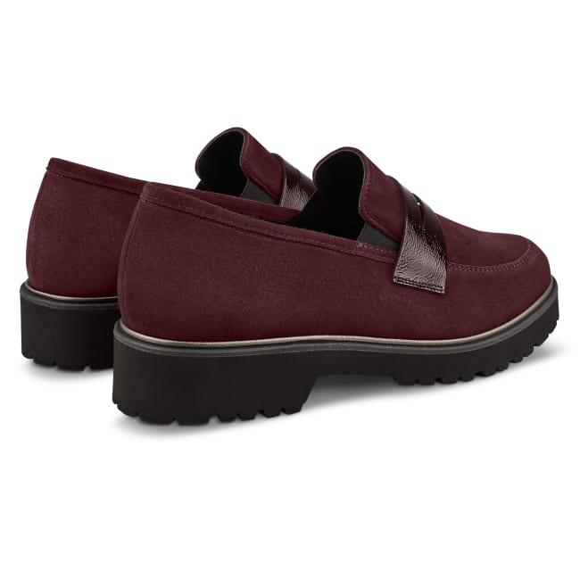 Premium Loafer mit Profilsohle Bordeaux – modischer und bequemer Schuh für Hallux valgus und empfindliche Füße von LaShoe.de