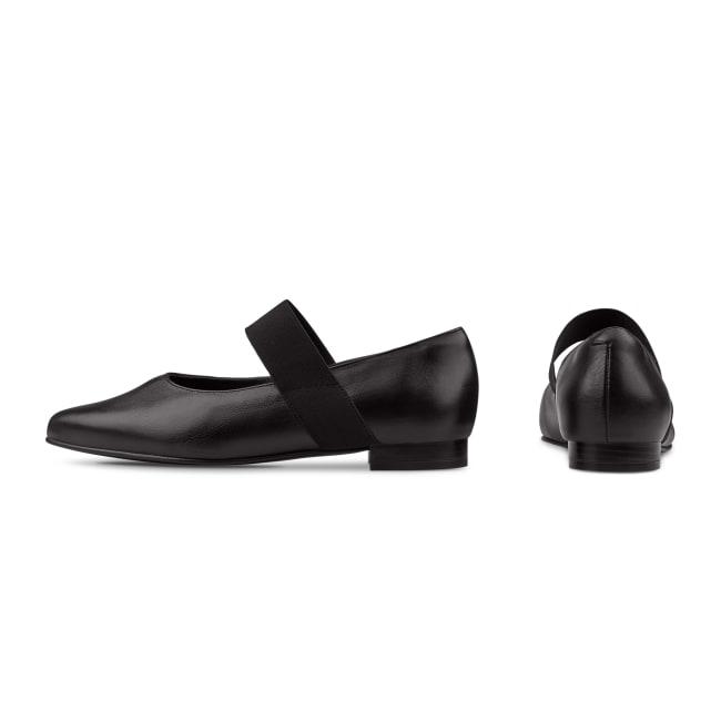 Ballerina mit Stretchriemchen Schwarz – modischer und bequemer Schuh für Hallux valgus und empfindliche Füße von LaShoe.de