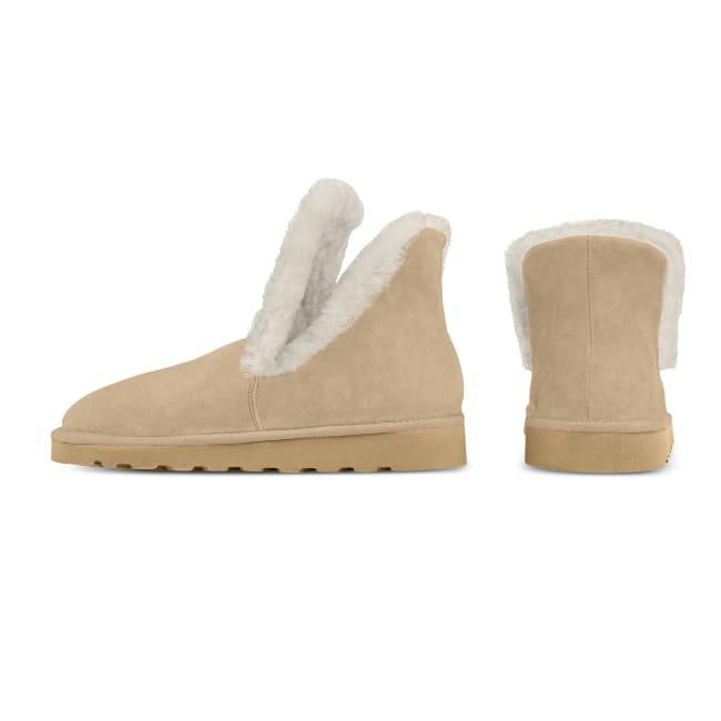 Lammfellbootie In- & Outdoor Taupe – modischer und bequemer Schuh für Hallux valgus und empfindliche Füße von LaShoe.de