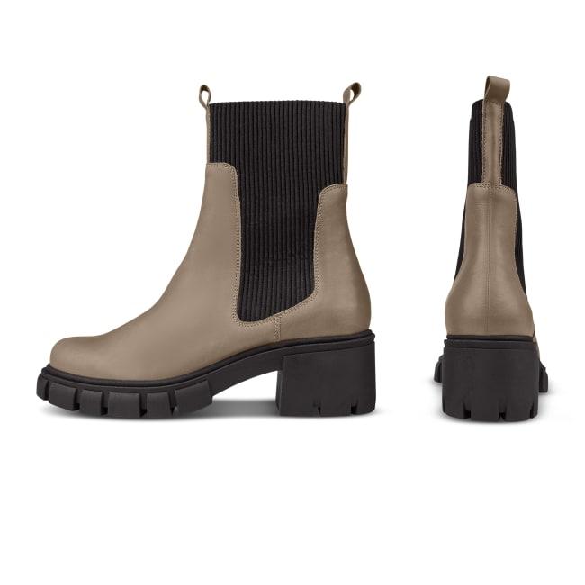 Chunky Chelsea mit Rippeinsatz Taupe – modischer und bequemer Schuh für Hallux valgus und empfindliche Füße von LaShoe.de