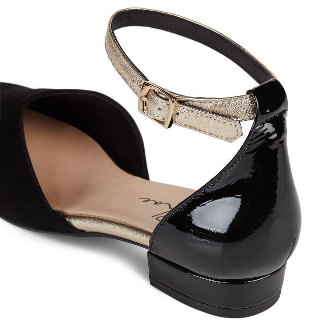 Sling-Ballerina Schwarz  – modischer und bequemer Schuh für Hallux valgus und empfindliche Füße von LaShoe.de