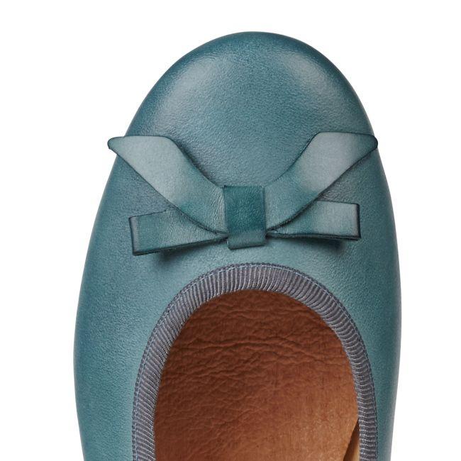 Ballerina mit Schleife Opalgrün – modischer und bequemer Schuh für Hallux valgus und empfindliche Füße von LaShoe.de