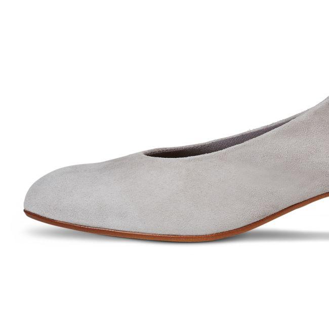 Sling-Pumps Hellgrau – modischer und bequemer Schuh für Hallux valgus und empfindliche Füße von LaShoe.de