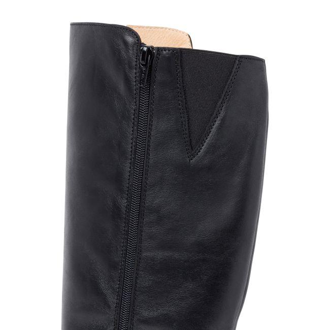 Langschaftstiefel extraweiter Schaft Schwarz – modischer und bequemer Schuh für Hallux valgus und empfindliche Füße von LaShoe.de