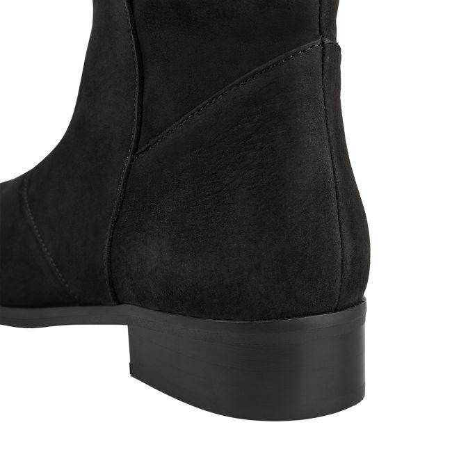 Langschaftstiefel Schwarz – modischer und bequemer Schuh für Hallux valgus und empfindliche Füße von LaShoe.de