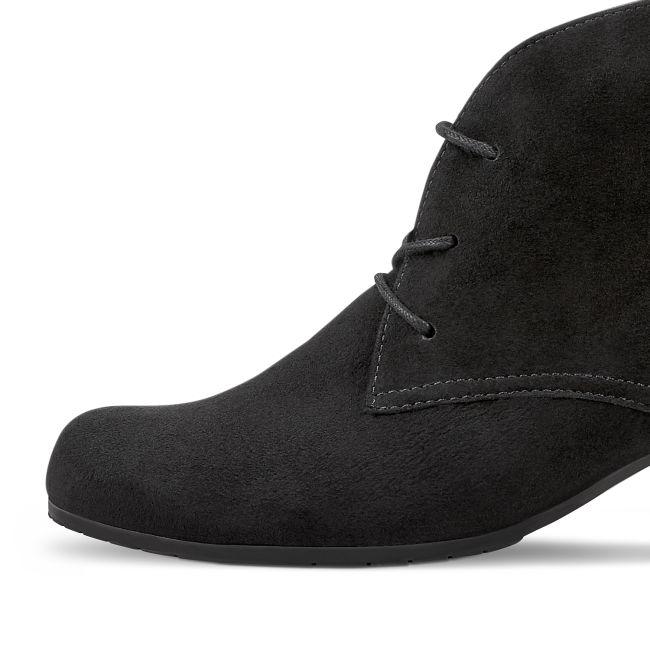 Schnürstiefelette mit Blockabsatz Schwarz (normale Weite)  – modischer und bequemer Schuh für Hallux valgus und empfindliche Füße von LaShoe.de