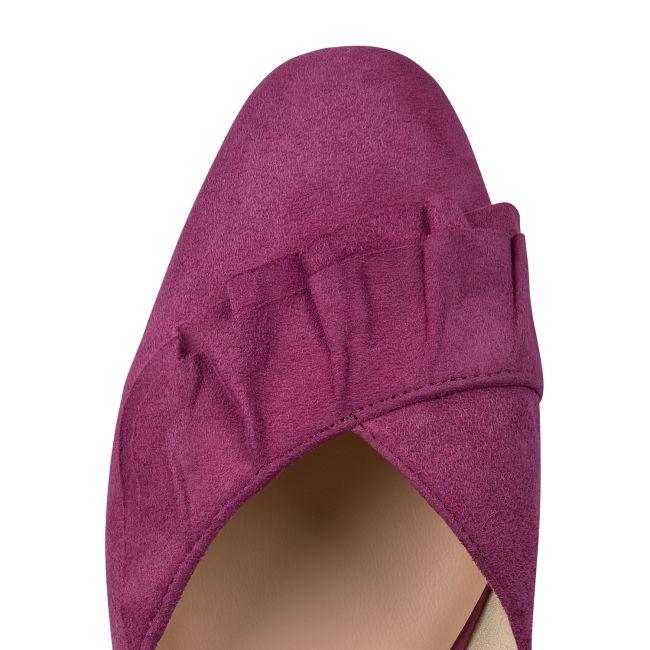 Ballerina mit Volant Magenta – modischer und bequemer Schuh für Hallux valgus und empfindliche Füße von LaShoe.de