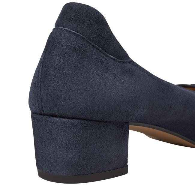 Pumps auf Blockabsatz Marine – modischer und bequemer Schuh für Hallux valgus und empfindliche Füße von LaShoe.de