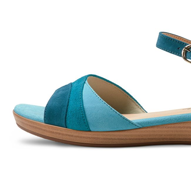 Sandale auf Mini-Keilabsatz Aqua – modischer und bequemer Schuh für Hallux valgus und empfindliche Füße von LaShoe.de