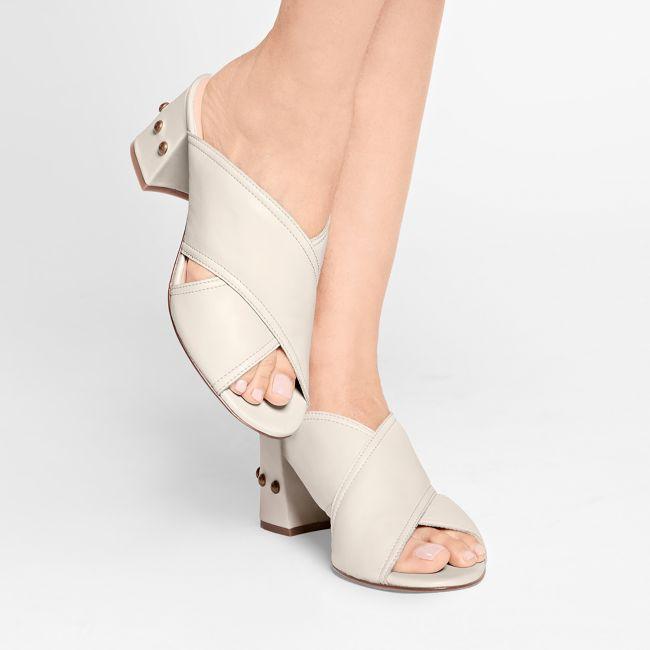Mule Boho Beige – modischer und bequemer Schuh für Hallux valgus und empfindliche Füße von LaShoe.de