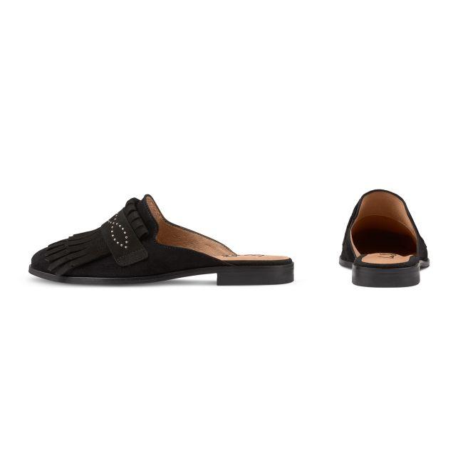 Mule Boho-Chic Schwarz – modischer und bequemer Schuh für Hallux valgus und empfindliche Füße von LaShoe.de