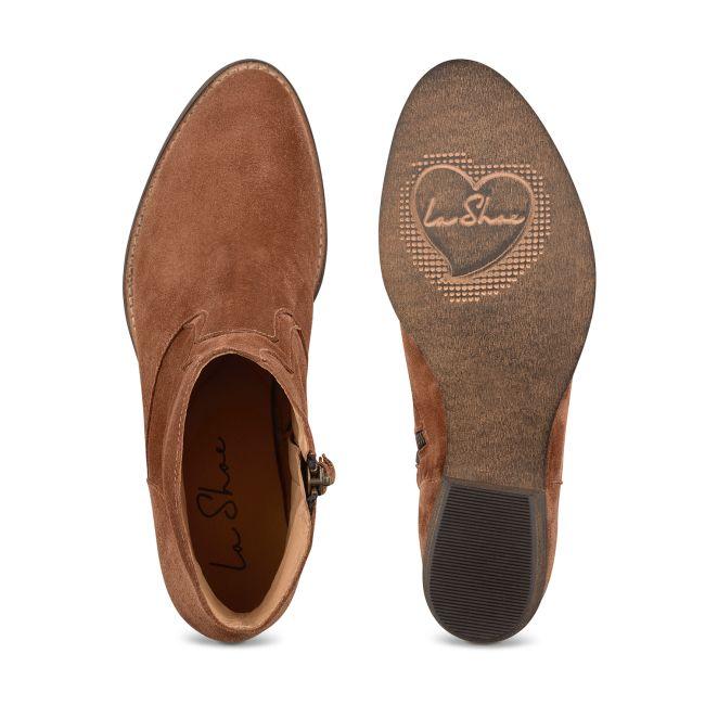 Western-Stiefelette Cognac – modischer und bequemer Schuh für Hallux valgus und empfindliche Füße von LaShoe.de