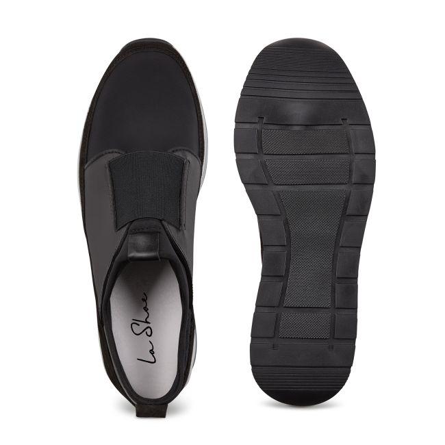 Sock-Sneaker Schwarz – modischer und bequemer Schuh für Hallux valgus und empfindliche Füße von LaShoe.de