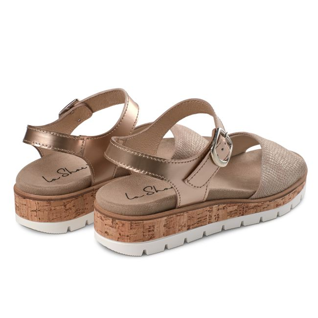 Sandale Comfy Nude – modischer und bequemer Schuh für Hallux valgus und empfindliche Füße von LaShoe.de