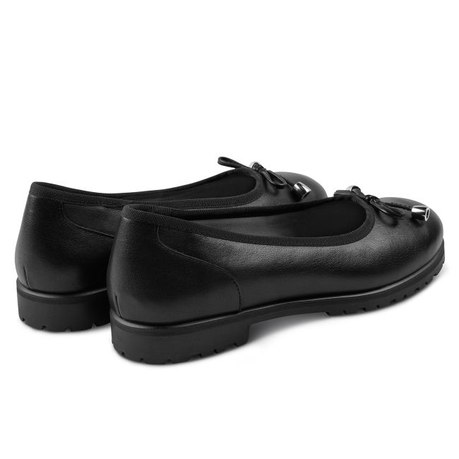 Ballerina mit Profilsohle Schwarz – modischer und bequemer Schuh für Hallux valgus und empfindliche Füße von LaShoe.de