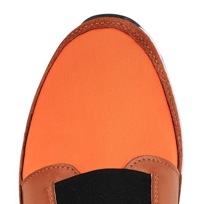 Sock-Sneaker Orange – modischer und bequemer Schuh für Hallux valgus und empfindliche Füße von LaShoe.de