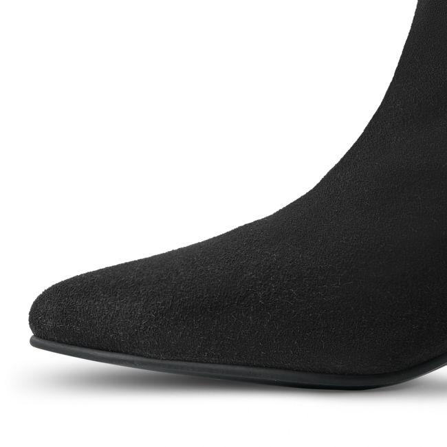 Stiefelette mit Kitten-Heel Schwarz – modischer und bequemer Schuh für Hallux valgus und empfindliche Füße von LaShoe.de